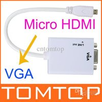 hdmi dvd player - 1080P Micro HDMI to VGA Video Converter Adapter With Audio for PC TV Laptops DVD Players and Other Micro HDMI Devices Copper inside