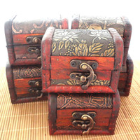 attractive storage boxes - Vintage style DIY wooden jewelry box storage box clean up box attractive in price and quality