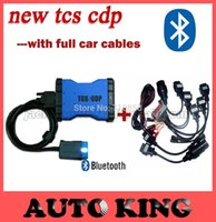 Cheap 100% warranty for New TCS CDP with bluetooth function add 8 pcs car cables for cars and trucks 3 in 1 ----Fast SHIPPING !