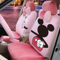 Wholesale 18 Piece Warm Pink Mickey Mouse Valentine Car Seat Covers