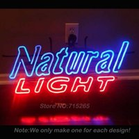 Wholesale Natural Light Neon Light Sign Real Glass Tube Neon Bulbs Beer Bar Pub Recreation Room Garage Windows Sign Neon Sign Store x15