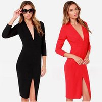 clothes sex for women - Cell Phones Special Offer Sheer Sex Products Parking New Party Dress Split Package Hip Deep V neck Dresses for Womens Women Clothes for