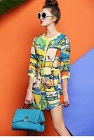 giraffe print - SHESTYLE New Fashion Print Women Summer Dress O neck Giraffe Print Casual Dress Silk Plus Size S XL S14085
