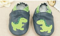 Wholesale 4pairs New baby leather shoes dinosaur first walker toddler shoes