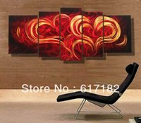 bathroom wall sculptures - Modern contemporary abstract painting metal wall art sculpture wall hanging decorations A00353