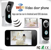 Wholesale Wifi video intercom wifi video door phone wireless App can be run in Android and IOS devices DHL