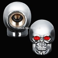 atv covers - GPS Awesome Custom Chrome Plated D Skull Tire Air Stem Valve Cap Cover Set For Motorcycle Street Offroad Dirt Bike ATV Moto