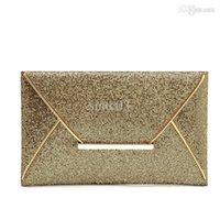 Monedero del bolso de embrague al por mayor a la manera de lujo para mujer de las lentejuelas del sobre / café Twinkly Partido de noche del color del bolso del oro