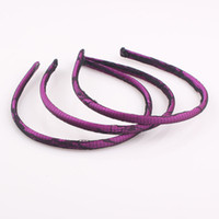 Wholesale 2014 New Solid Satin headbands mm Plastic headbands Fashion Hair Accessory Lace Headband Hair Band FEAL ZH117