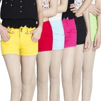 Wholesale 2015 Summer Fashion Womens Lady Shorts Candy color Slim Casual Hot Pants Large size Color Piece