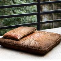 straw mat - Deluxe Handmade Meditation Cushion Set Zafu Pillow and Zabuton Square cm Japanese Style Floor Tatami Mat Yoga Seat
