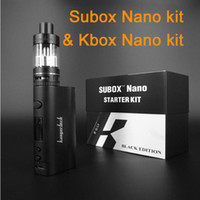 Wholesale Top quality Kanger Subox nano mini kit with E cigarette Sub tank Subtank RDA OCC atomizer Variable Wattage Box vape Mod W Ecig Kit