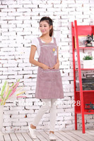 aprons with pockets red - Cotton Fashion Black and Red Plaid Kitchen Apron With Big Pocket