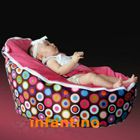 Wholesale PINK POLKA DOTS Hot Selling travel chair for baby convenient chairs confortable travel chair
