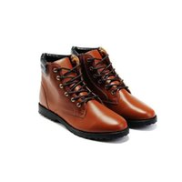 mens boots - Mens Fashion Boots Round Toes Designer Ankle Boots High Quality PU Materials Lace up Mens Trendy Leather Shoes New Arrival