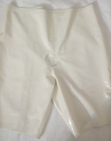 rubber pants - latex panty rubber panties front hole white mm rubber sheet latex pants rubber shorts