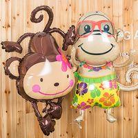 balloon animals monkey - Cartoon Monkey Color Balloons Children Gift Toys Animal Foil Balloons Birthday Party Gift Favors Christmas Festive Decoration SD482