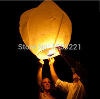 Cheap Brand New Chinese Paper Fire Sky Lanterns hot air Balloons for Holiday New Year Wedding Party Decoration 50pcs lot