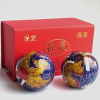 Wholesale Baoding iron ball fitness ball elderly handball health ball cloisonne dragon Mid creative small gifts