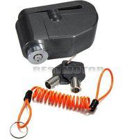 Wholesale 7mm Motorcycle Bike Alarm Disc Brake Rotor Lock Security Reminder Cable Orange