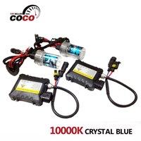 audi crystal blue - Set V W DC Car Xenon HID Kit K Crystal Blue H1 H3 H7 H8 H9 H10 H11 H4 bulbs Slim Ballast Headlight light