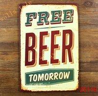 Wholesale funny metal tin sign for bar pub wall decor metal wall art bar sign beer