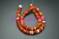 Wholesale New Style Around x10MM Rondelle Spacer Abacus Banded Red Carnelian Beads For Bracelet Necklace Jewelry Making Strand