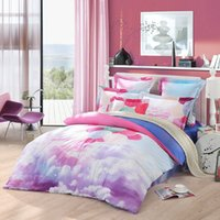 bedding thread count - LOVO Colorful Macaron Ballons in Clouds Cotton Thread Count Bedding Set Duver Cover Flat sheet Pillowcases