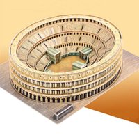 Wholesale 2015 hot Roman Colosseum Model toys baby kids D handmade puzzle DIY creative model toy gift children boys girls building J040902
