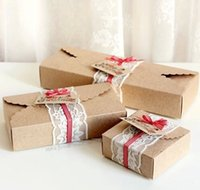 Wholesale Brief Kraft Paper Box Moon Cake Biscuit Boxes Handmade Dessert Package Pavors Christmas Gift Boxes