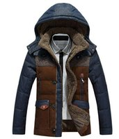 Wholesale 2015 New Winter Men s Long Design Down Jackets Coats Mens Fashion Thick Warm Fur Collar Hooded Jacket for Men White goose down