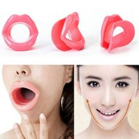 Wholesale Silicone Rubber Face Slimmer Exerciser Lip Trainer Oral Mouth Muscle Tightener Anti Aging Wrinkle Chin Massager Thin Jaw Care