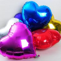 aluminum table sets - 100pcs Love heart aluminum ballons inch foil wedding balloons multicolor baloon decoration ballon party supplies