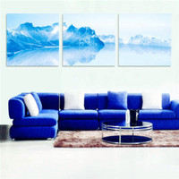Cheap Home Decoration Wall Stickers Home Decor Modern Scenic Night View Wall Art On Canvas Prints Set Of 3 FRAMED Beautiful SceneryWall Canvas S