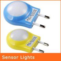 side socket - Light Control Two Side Down And Up Lighting LED Sensor Night Light EU Plug Novelty Induction Children Socket Lamp NL059