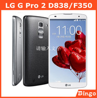 Wholesale LG G Pro F350 D838 D837 unlocked Android Mobile phone Quad core quot MP GB ROM cell phone D838 GSM G G WIFI GPS dropshipping