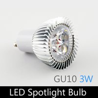 Wholesale 3W LED spotlight GU10 AC220V V aluminum led bulb lamp for home lighting