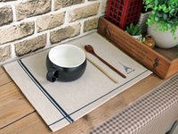 Cheap Wholesale-Free shipping New 2013 Zakka Cotton Placemats eiffel tower and Sea anchor heat insulation pad mat mats and pads Home decoration