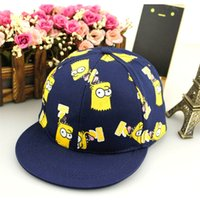 baby spongebob characters - 2015 Kids Snapback SpongeBob SquarePan Cartoon Embroidery Children Cotton Baseball Cap Baby Boys Girl Snapback Caps Hip Hop Hats