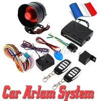 Wholesale NEW Universal HA A Way Car Alarm Vehicle System Protec tion Security System Keyless Entry Siren Remote Control Burglar