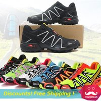 Wholesale Salamon Speedcross Man Running shoes Walking Outdoor Hiking Shoes Mountain Climbing Shoes Zapatos Waterproof Athletic Shoes Size