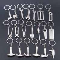 achat en gros de chaîne zingué-Alliage de zinc Plaqué argent clé changeable clé marteau clé de mode clés chaîne Creative Keyfob 20 types d'outils ak066
