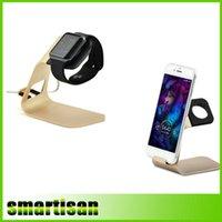 Acheter Le soutien à l'importation-2 IN 1 import antiskid alliage d'aluminium Station d'accueil magnétique pour Apple Watch Support de support de charge pour téléphones portables