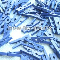 baby clothespins - 100 Mini Clothespins Royal Blue quot for hang banner letter pin gifts Baby Shower BOYS favors Wedding Decor Xmas