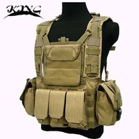 airsoft vest - Hot New Hunting Military Airsoft MOLLE Nylon Combat Paintball Tactical CS Vest Outdoor Tactical Gear Vest KTV