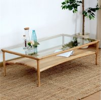 Wholesale Oak solid wood tea table contracted and contemporary new product coffee table