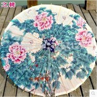 Raining ancient props - Suzhou ancient dance props oiled paper umbrella white peony is prevented bask in decoration