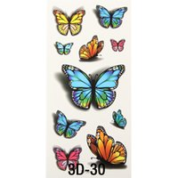 art style tattoo - x Inspire Colorful D Sticker On Body Art Chest Shoulder Stickers Glitter Temporary Flash Tattoos Removal Fake Butterfly Style