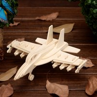 antique wooden puzzles - Deal Realistic plane hummer wood puzzle wooden crafts Children s educational toys birthday present