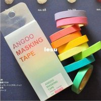 Wholesale Rainbow Washi Sticky Paper Masking Adhesive Scrapbooking Decorative DIY Tape